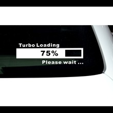 Turbo loading Custom Die Cut Car window decals funny stickers vinyl raised decal Made of Reflective Vinyl