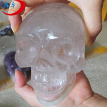 Natural special clear quartz crystal skulls crystal skull for sale for art & collectible