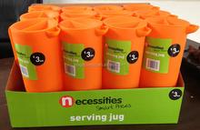 1.5L plastic Serving jug Water jug Water pitcher (Orange 151C) in display box packing #TG1009EG