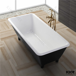 black bathtub with legs , solid surface material bathtub
