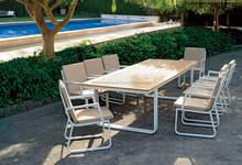 Fancy outdoor furniture patio garden aluminum dining table set