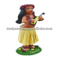 resin dashboard hula figurine