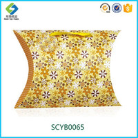 Professional Design Custom Luxury Handcraft Wholesale Gift Paper Pillow Box