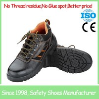 SF8117 Comfortable Low cut black steel toe cap&insole leather work time safety shoes