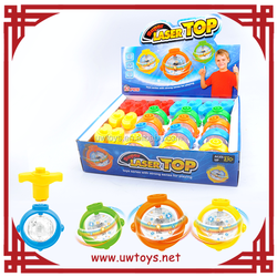 China wholesale flash light and music ufo spinning top toy