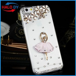 PC back cover case, phone case cover for htc desire 620, with crystal diamond