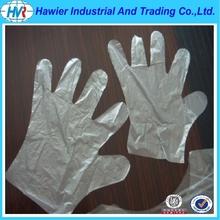 Transparent poly plastic hair washing glove