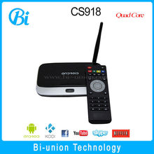HOTTEST Seller CS918 android tv box xbmc Miracast+Dlna+Airplay bluetooth rk3188 quad core tv box 2g/8g QUAD CORE XMBC FULLY LOAd