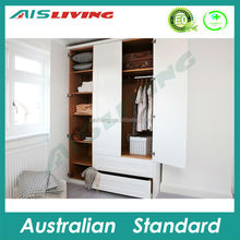 2015 Latest 2 door wardrobe/wooden clothes cabinet/bedroom Furniture