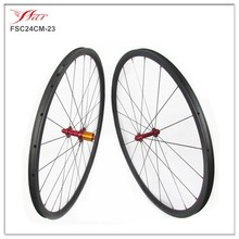 Chinese cheap bicycle carbon wheelset clincher 24mm x23mm carbon fiber wheels, basalt braking surface with high-temp resin