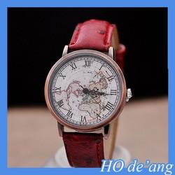 HOGIFT Customized Japanese Map Watch/New Vogue Watch/Copper Quartz Wriswatch