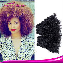 Unprocessed wholesale top grade jerry curl brazilian beauty virgin curly hair