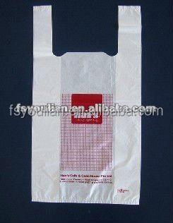 Wholesale plastic t shirt bag wholesale hdpe t for Cheap t shirt bags wholesale