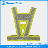 GuardRite durable safety vest for police working led reflective yellow vest