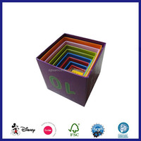 Christmas Decorative Nested Paper Cardboard Stacking Box