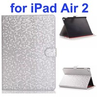 Hot Sale Diamond Texture Flip Leather Case for iPad Air 2 with Gears