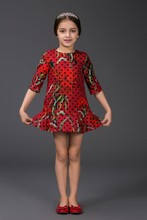 kid custum woven garment in bangladesh real sampl parti dress
