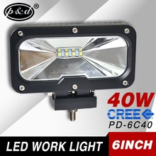 4x4 accessory 40w 6 inch 3600LM motorcycle led off road work lights
