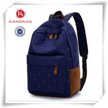 2015 New Fashion Design Cute Canvas Backpack Vintage Canvas Backpack