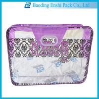 2014 new fashionable logo customized printing blanket pvc packing bag with zipper and handle