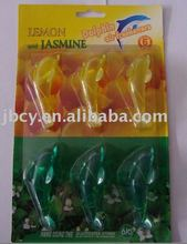 hot new product plastic auto air fresheners ,dophine ,pvc