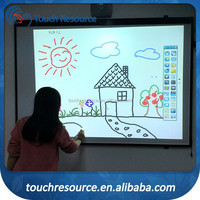 max 64 touch point portable interactive smart board