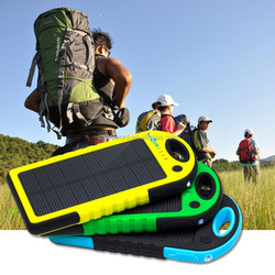 Power Pack 5000mAh Mobile Solar Power Panel,Solar Portable Power Bank / 5000mah solar portable charger
