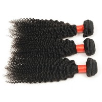 free shipping 7A hair products wholesale supplier Brazilian Remy virgin kinky curly 14inch 3 pcs/lot