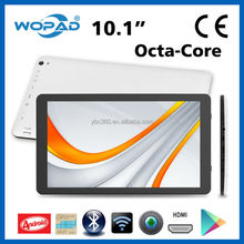 White Slim 10 Inch A83T Octa-Core Android 4.4 Tablet PC with Flashlight