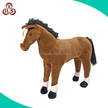 Custom beauty Plush brown talking and walking horse Toy