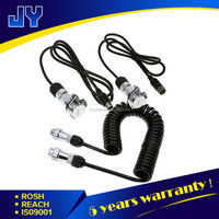commercial vehicle spring heavy duty coiled power cords with 5 pin socket