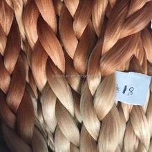 """Low temperature non fire resistant fiber 32"""" 165g kanekalon braiding hair two tone color"""