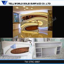 Royal Solid Surface Counter Desk, hotel front desk supplies