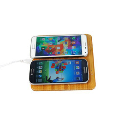 Real Bamboo Wireless Mobile Phone Battery Charger