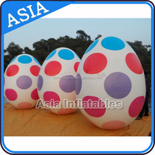 2015 new Chrismas decoration inflatable colorful eggs/Easter Sunday egg balloon