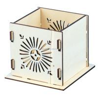 Laser engraving designs wooden organizer pen stand/name card holder