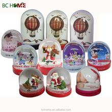 Picture insert snow globe,LED snow globe,Photo plastic snow globe