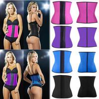 hot selling Steel Bone Waist Training Corset 100% Latex Corset Sexy Women Latex Waist Cincher Slimming Shapewear Bodysuit