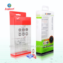 personalizado pvc transparente pequeña dentaduras postizas caja de plástico