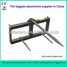 bale spike for skid steer loader (skid loader attachment,bobcat attachment)