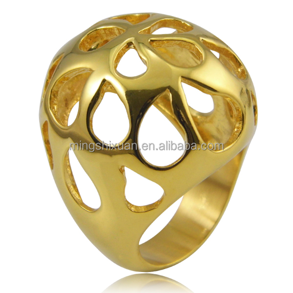 new design gold plated jewelry ring mold view