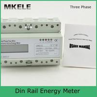 Din Rail MK-LEM021JC energy power meter, energy meter box, three phase analog energy meter