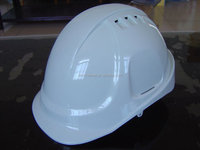 White color vented cap style safety helmet with CE certificate