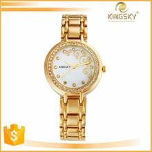 2015 kingsky 4236# beautiful flower dial simple luxury quartz watch brands