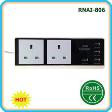 Extension Power Socket with USB Ports Multi Switch For UK Plug
