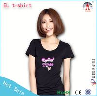 2015 Fashion tangible equalizer animated flashing el t-shirt,ROHS,CE cetification