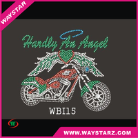 Hotfix Rhinestone Transfer Mixed motorcycle Design for garment free shipping