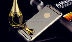 Luxury Mirror Electroplating Soft Clear TPU Cases For iphone 5 / 5S /6 4.7 inch /6 Plus back cover