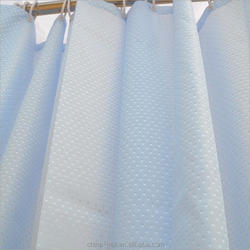 100%polyester diamond shower curtain
