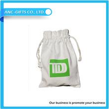 logo printed cheap drawstring bag cotton